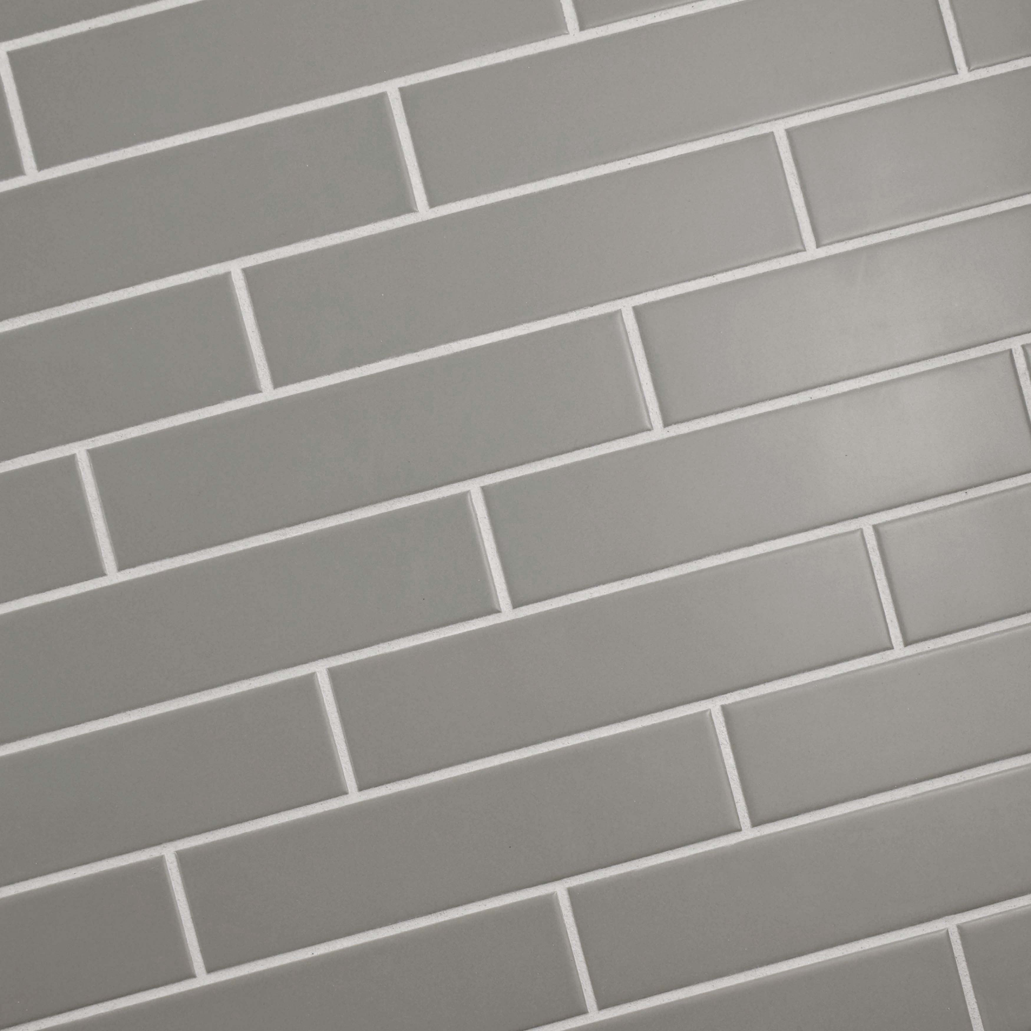 Somertile 1 75x7 75 Inch Victorian Soho Subway Matte Light Grey Porcelain Floor And Wall Tile 10 Tiles Sqft