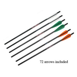 Excalibur Crossbow Carbon Gold Tip Arrows 2 inches Per 72