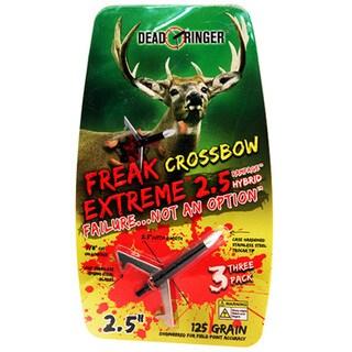 Dead Ringer Freak Extreme Stainless Steel 125-grain Crossbow Broadheads (Pack of 3)