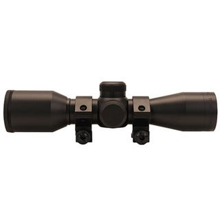 Truglo Cross Tec Matte Black Compact Crossbow Scope with Rings