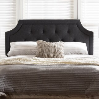 Gracewood Hollow Alexie Charcoal Contemporary Upholstered Headboard