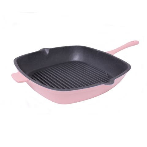 BergHOFF Neo Pink Cast Iron 11-inch Square Grill Pan