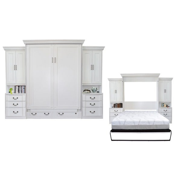 Shop Empire Antique White Queen Size Murphy Bed And Double