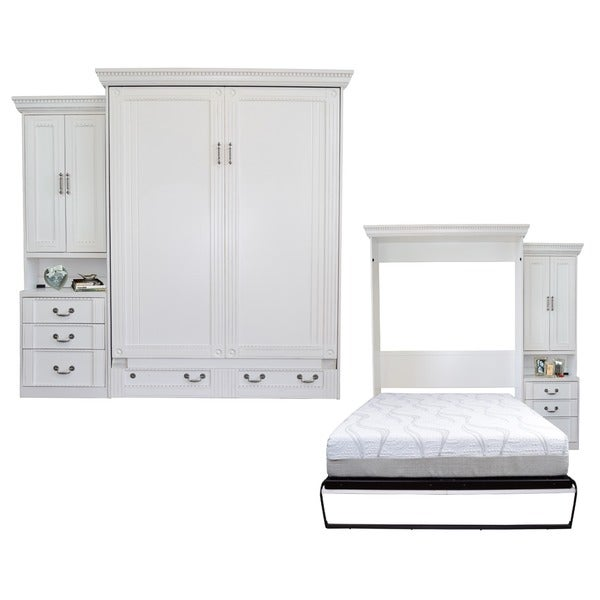 Shop Empire Antique White Queen Size Murphy Bed And Pier
