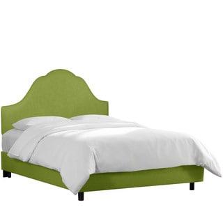 Skyline Furniture Apple Green Linen Upholstered Arched Bed