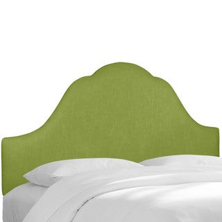 Skyline Furniture Apple Green Linen Upholstered Arched Headboard