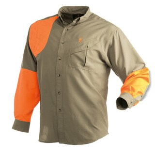 Browning Men's Cross Country Upland Long Sleeve Shirt (Khaki/Blaze)