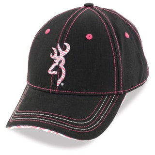 Browning Women's Diva Black and Pink Cotton-blend Cap