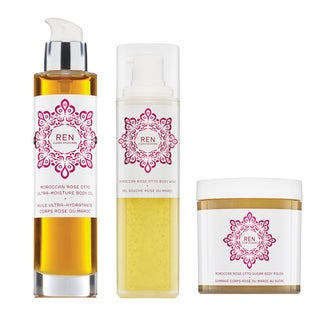 Ren Clean Skincare Luxury Moroccan Rose 3-piece Set