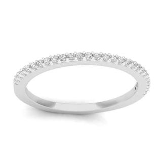 18k Gold 1/5ct TDW Round Diamond Anniversary Stackable Ring Wedding Band