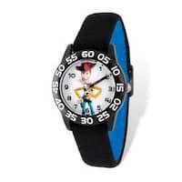 Disney Toy Story Woody Acrylic Black Stretch Band Time Teacher Watch