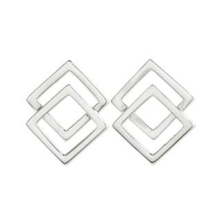 Handmade Sterling Silver 'Forever Square' Earrings (Thailand)