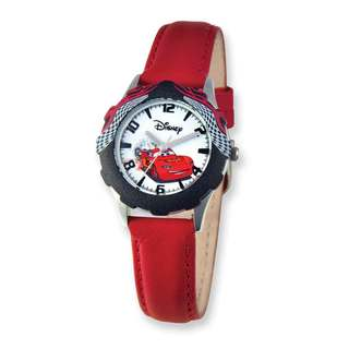 Disney Cars 2 Red Leather Band Tween Collection Watch