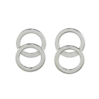 Handmade Sterling Silver 'Forever Circles' Earrings (Thailand)