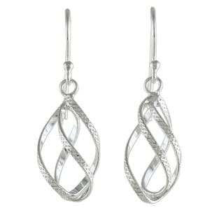 Handmade Sterling Silver 'Elegant Helix' Earrings (Thailand)