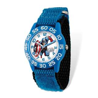 Marvel Captain America Acrylic Blue Nylon Time Teacher Watch
