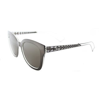 Dior Diorama 1/S TGT EJ Grey Crystal Metal Square Brown Lens Sunglasses