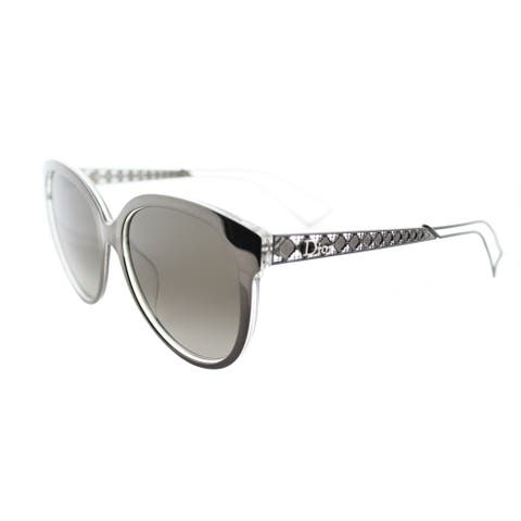 73843e73d4dbf Dior Diorama 2 S TGT HA Grey Crystal Metal Round Brown Gradient Lens  Sunglasses