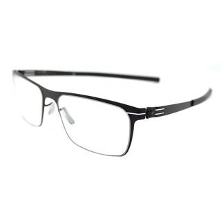 ic! berlin 135 Seekorso Black Metal 54-millimeter Rectangle Eyeglasses