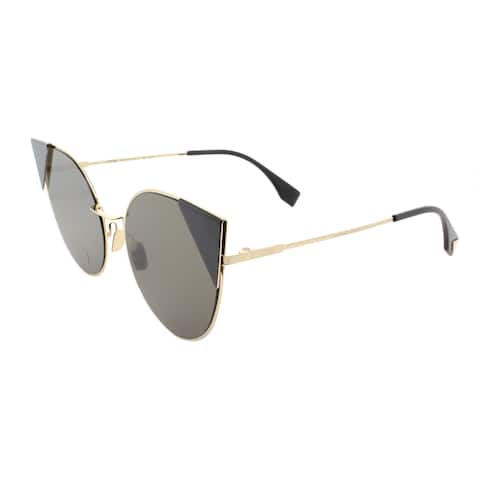 Fendi FF 0190 000 2M Lei Rose Gold Metal Cat-Eye Brown Lens Sunglasses