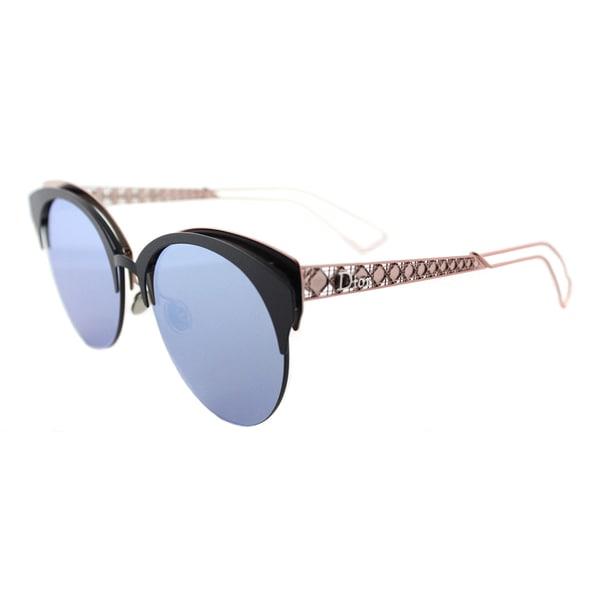 c0779ff9d28a Dior Diorama Club S FBX Matte Blue Pink Metal Cat-Eye Blue Mirror Lens