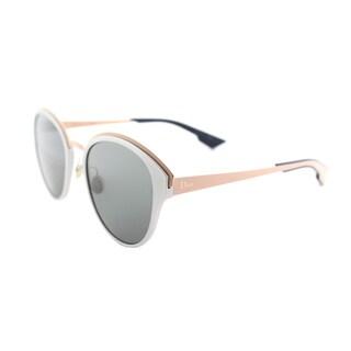 Dior Dior Sun/S RCM BN Silver Matte Peach Metal Round Dark Grey Lens Sunglasses