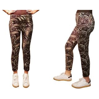 Riviera Juniors' Furry Printed Legging