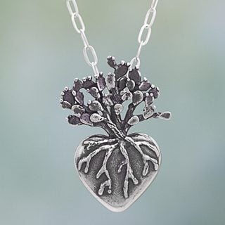 Handmade Sterling Silver 'Root of Life' Necklace (Mexico)