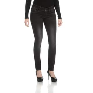 Rampage Women's Junior Curvy Double Button Jeans|https://ak1.ostkcdn.com/images/products/13860629/P20501631.jpg?impolicy=medium