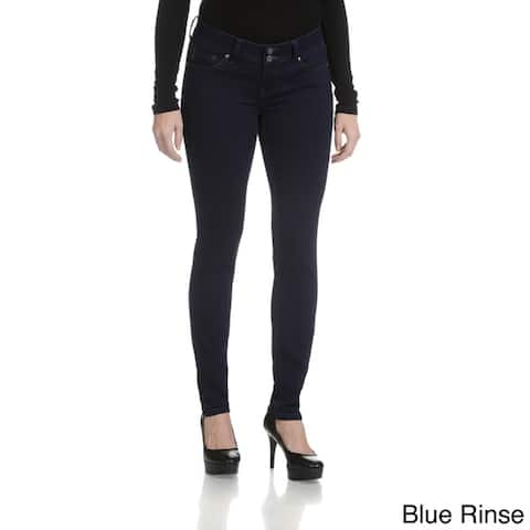 Rampage Women's Junior Curvy Double Button Jeans