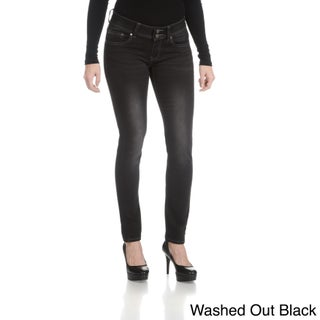 Rampage Women's Junior Curvy Double Button Jeans (More options available)
