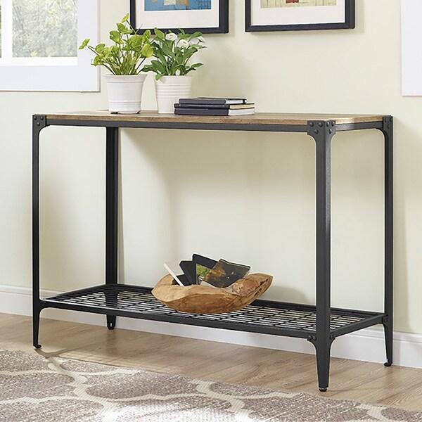 Rustic Angle Iron Barnwood 44 Inch Sofa Entry Table
