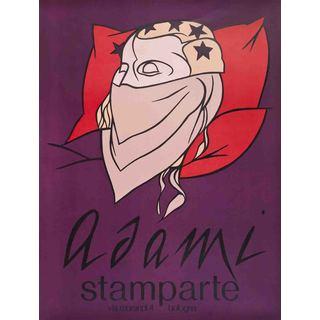 Valerio Adami 'Stamparte' Lithograph Poster (30 x 22.75)