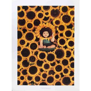 Anne Geddes 'Sunflower-1999' Offset Lithograph Poster, 31.5 x 23.5 inches