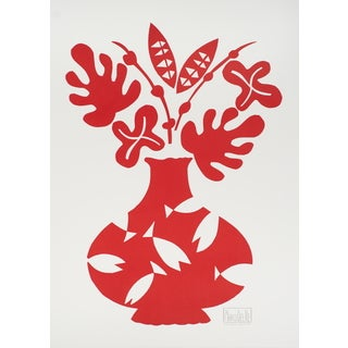 Marco Del Re 'Vase III Rouge' 2008 Lithograph, 29.75 x 22 inches