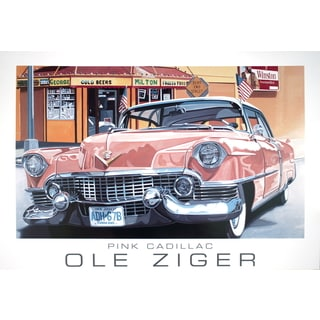 Ole Ziger 'Pink Cadillac' 2002 Lithograph Poster, 27.5 x 39.25 inches