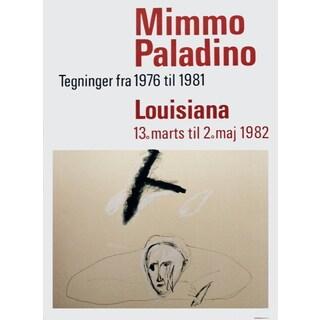 Mimmo Paladino 'Louisiana-1982' Offset Lithograph Poster, 33.5 x 24.25 inches