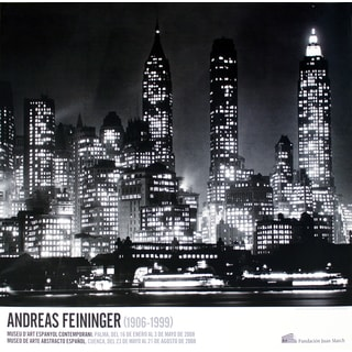 Andreas Feininger 'Downtown Manhattann at Night, New York' 2008 Poster, 26.75 x 29 inches