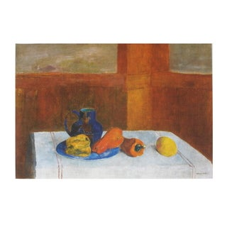 Odilon Redon 'Still Life With Peppers and Pitcher' Poster Wall Art, 23.75 x 31.5 inches