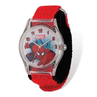 Marvel Spiderman Acrylic Red/Black Nylon Tween Watch