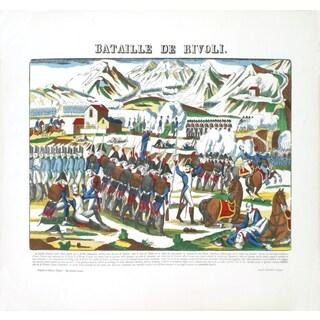Pellerin 'Napoleon-Bataille de Rivoli' Woodblock, 19.75 x 26 inches