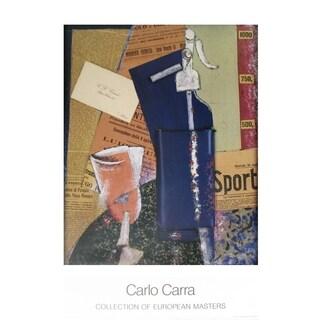 Carlo Carra 'Sifone Di Seltz' Poster, 35.25 x 27.25 inches