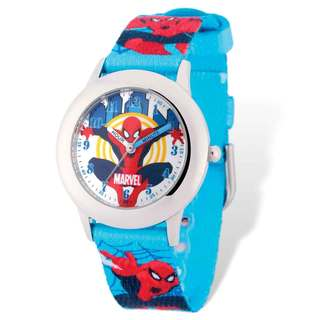 Marvel Spiderman Blue Band Time Teacher Watch