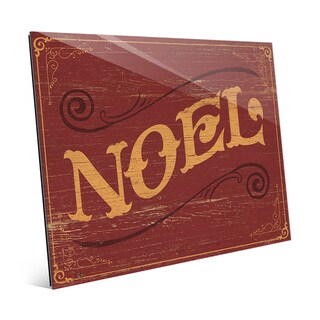 Classic Noel Vintage Indoor Sign Wall Art on Glass (2 options available)