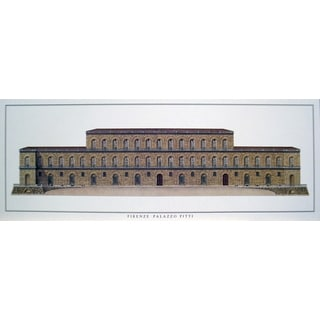 Firenze 'Palazzo Pitti' Offset Lithograph Poster, 14.5 x 39 inches