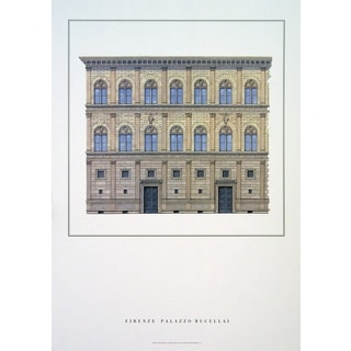 Firenze 'Palazzo Rucellai' Poster, 33 x 23.5 inches