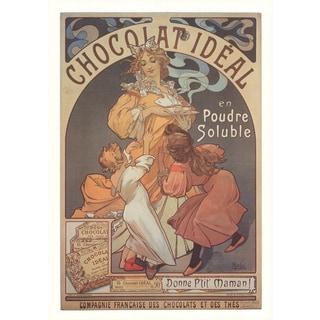 Alphonse Mucha 'Chocolat Ideal' Poster, 32 x 23 inches