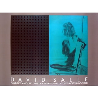 """David Salle """"at Boone/Castelli"""" Offset Lithograph 1982 Poster (27.5 x 37)"""