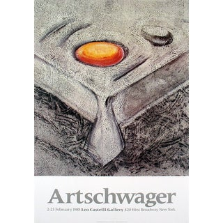 Richard Artschwager 'At Castelli's' 1985 Poster, 33 x 23 inches