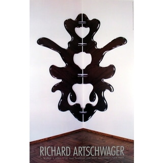 Richard Artschwager 'At Castelli's' 1991 Offset Lithograph Poster, 37.5 x 24 inches